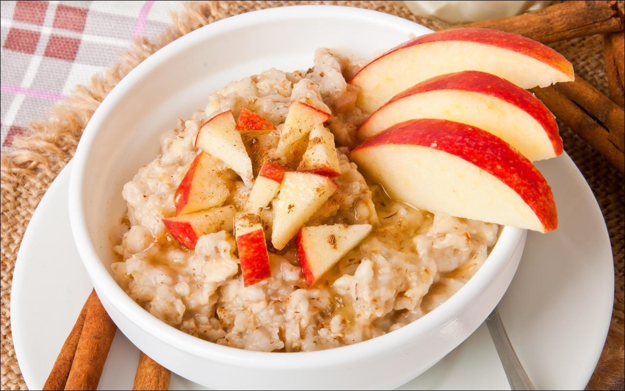 ApfelZimt Porridge mit Chia