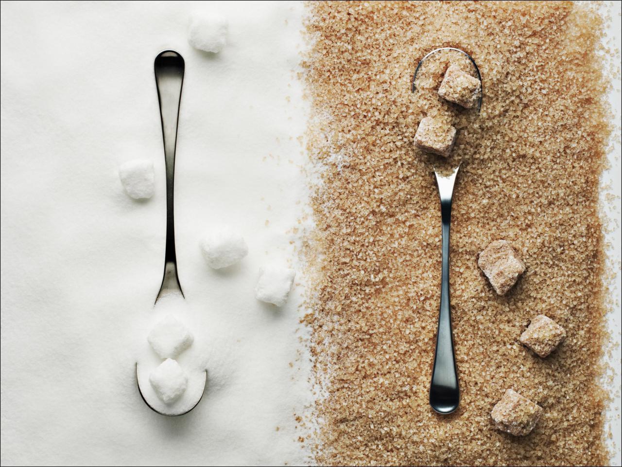 Brauner Zucker vs wei�er Zucker