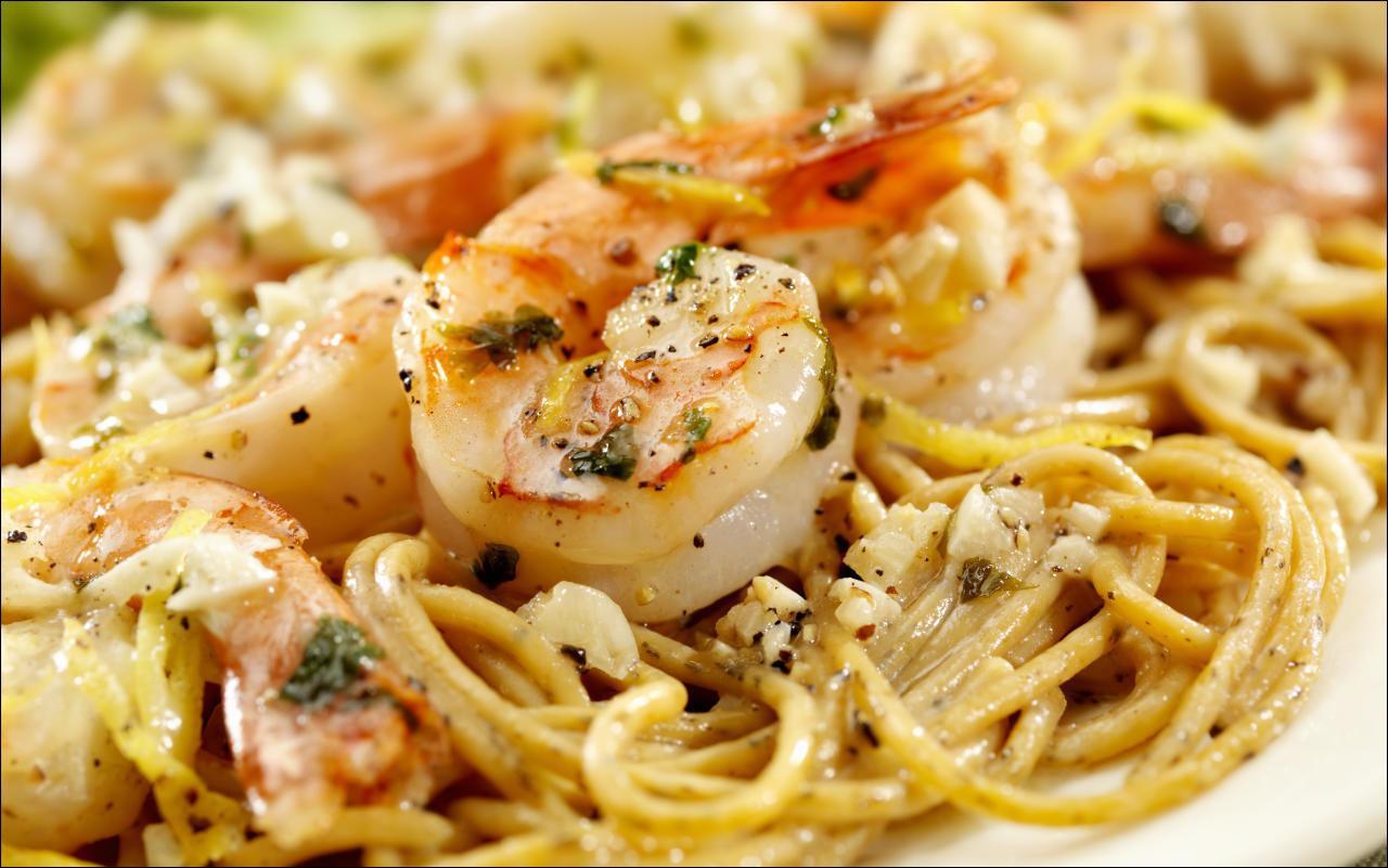 Linguini mit Shrimps