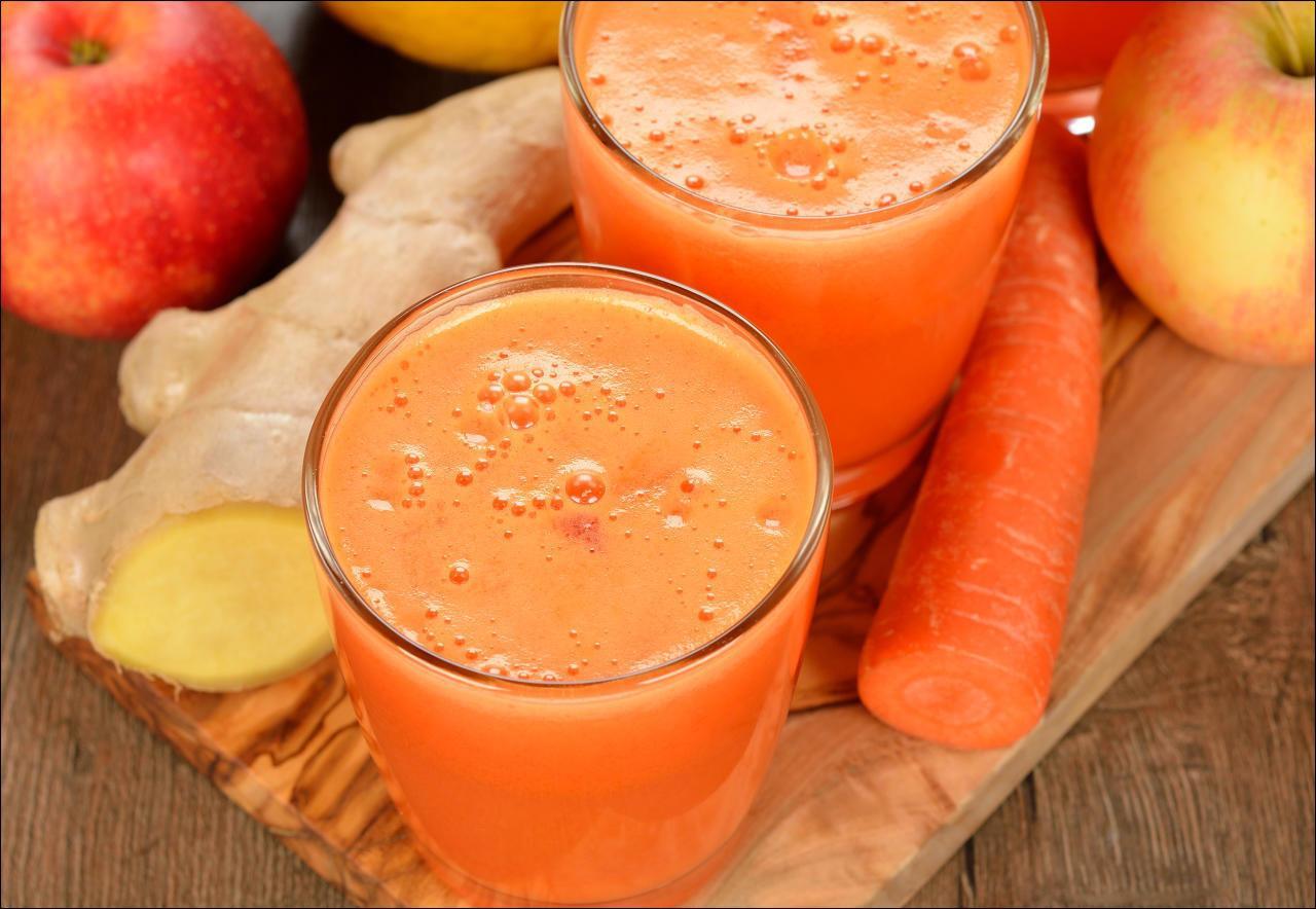 KarottenApfelSaft mit Ingwer